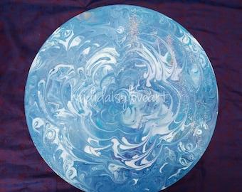 Upcycled record Dreamy ocean mandala