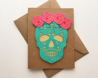 Day of the Dead - Catrina  | Mexican Style Handmade Card