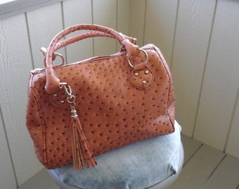 Imosion Faux Ostrich Handbag/New without tags