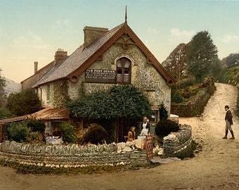 English Decor, England Art, Devon, Victorian Art, United Kingdom, Vintage Prints, Post Office, 19th Century, Victorian Prints, Photochrome