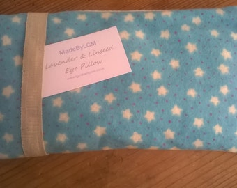 Lavender & Linseed Eye Pillow (Blue with stars)