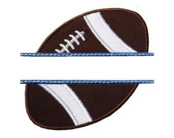 Football Name Plate Applique Machine Embroidery Digital Design Monogram Superbowl Sport