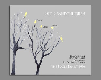 Grandchildren Sign - Grandchildrens Names - Personalized Grandparent Gift - Gift from Grandkids - Any Color Available up to 10 Names