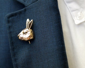 Men's lapel pin  - Stick pin Rabbit