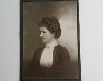 Clearance Antique Collectible Photograph Waitsburg's Lady. J.B. Loundagin Photographer of Waitsburg Washington
