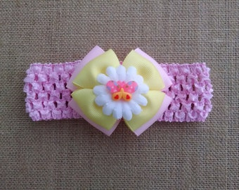 Butterfly Headband, Baby Girl Headband, Flower Headband, Pink Headband, Baby Hair Accessory, Baby Headband, Girls Hairbow, Butterfly Hairbow
