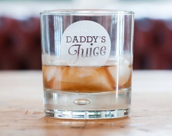 Daddy's Juice Whisky Glass, Whiskey Tumbler for Dad  (OHSO119986) L2B2