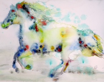 HORSE TRUTH - original watercolor painting - one of a kind!