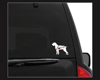 German Wirehaired Pointer (GWP): A Car Window Vinyl Decal - Laptop Sticker - Dog Breed Decals - Dog Stickers - Cooler Decal - Dog Lover Gift