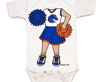 Boise State Broncos Heads Up! Cheerleader Baby Bodysuit