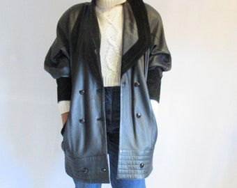 80's Oversized Leather Jacket