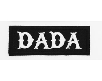 Dada iron on biker patch