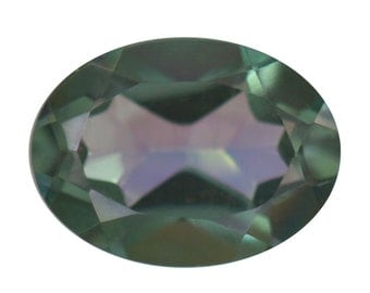 Mystic Good Times Coated Quartz Oval Cut Loose Gemstone 1A Quality 8x6mm TGW 0.95 cts.