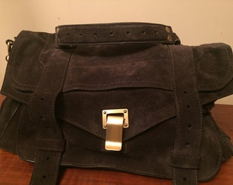 Proenza Schouler Suede PS1 School bag style purse