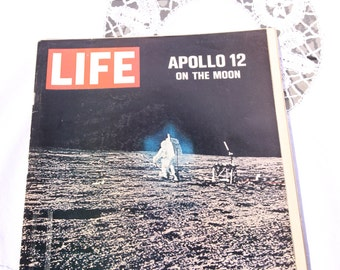 4 Vintage 1960's Life Magazines Moon Landing Life Magazines Life Off To The Moon, On The Moon, Leaving For The Moon, Our Moon Trip,