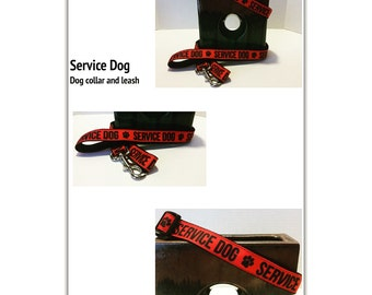 Service or Medical Dog: dog collar or leash in red or yellow