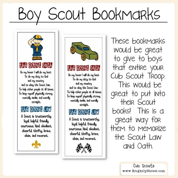 Accomplished image within boy scout law printable