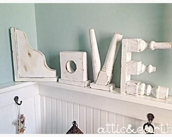 "Decorative ""LOVE"" letters"