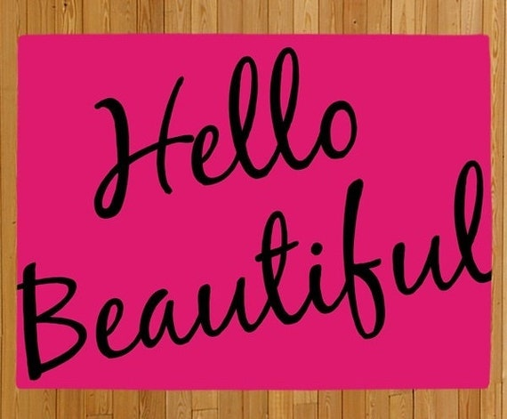 Welcome Mat Hello Beautiful Door Mat Doormat Rug Mat