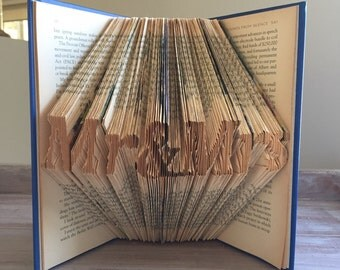 Mr & Mrs - Wedding Book - Folded Book Art
