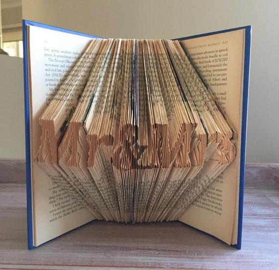 Mr & Mrs - Wedding Book - Folded Book Art