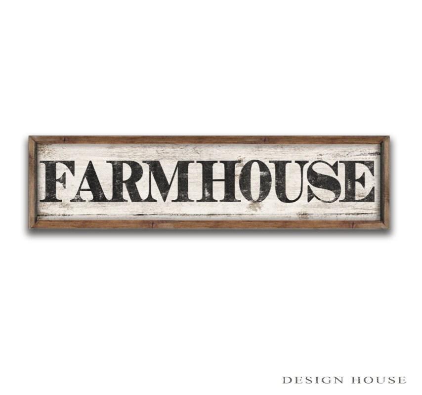 Farm House Sign 44x12x2 Inches Farm Signs Farm Plaques