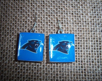 Carolina Panthers NFL Scrabble Tile Earrings