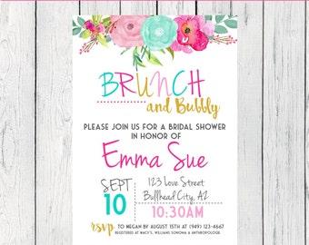 Brunch & Bubbly Bridal Shower***Digital File*** (bridal-Brunch)