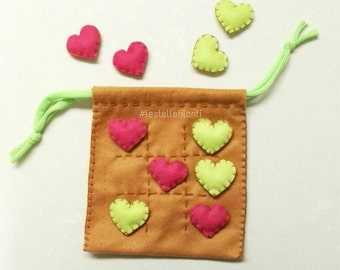 Tic tac toe Pocket hearts