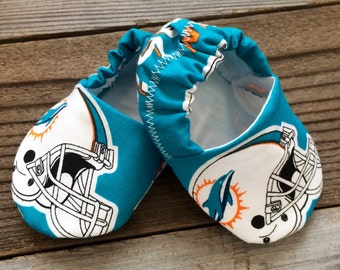 Miami Dolphins unisex baby shoes