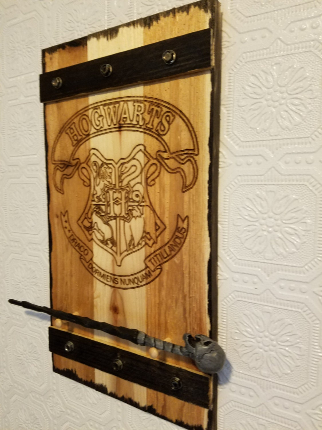 harry potter wand holder wand rack wand display by mysticmosswoods. Black Bedroom Furniture Sets. Home Design Ideas