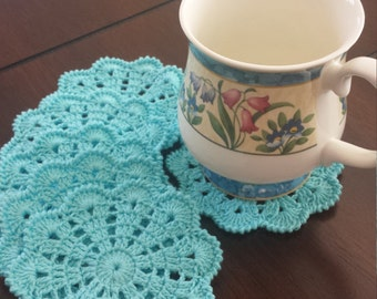 Crochet Coasters - Drink Coasters - Doily Coaster Set - Handmade Coasters - Cottage Style Decor - Rustic Decor-Discs