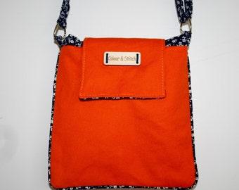 Mini crossbody bag in orange