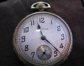 Handsome Vintage 1920's Supreme, Langendorf W. Co. Pocket Watch