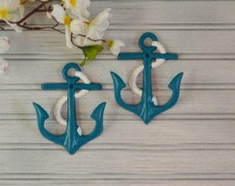 Set of Two Anchor Hooks. Anchor Hook. Anchor Decor. Beach Decor. Towel Hook. Bathroom Decor. Kitchen Decor. Nautical Decor. Coastal Decor.