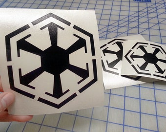Star Wars inspired Sith decal.. Sith logo decal.. Sith sticker.. Sith logo sticker.. Sith logo bumper sticker.. Sith window decal..