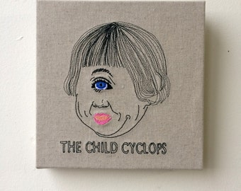 The child cyclops embroidery