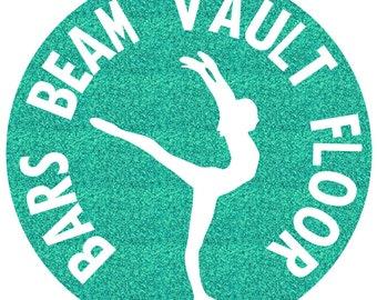 Bars Beam Vault Floor Circle Iron On Decal