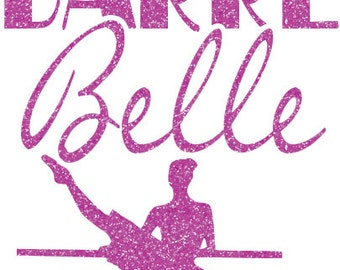 Barre Belle Iron On Decal