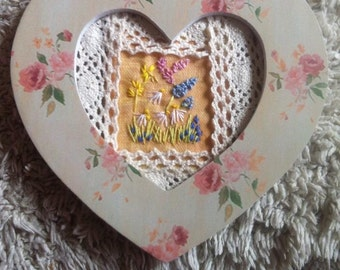 Heart shaped hanging picture