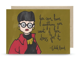 Edith Greeting Card - Blank Inside