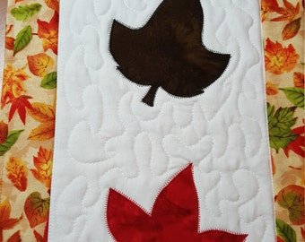 Quilted Fall Leaves Table Runner