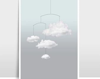 "A3 Artprint ""Cloud mobile"""