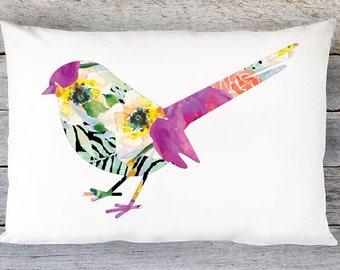Bird Pillow Cover - Bird Throw Pillow - 20x14 Lumbar Pillow Cover - Accent Pillow - Decorative Pillow - Modern Decor - Aldari Home