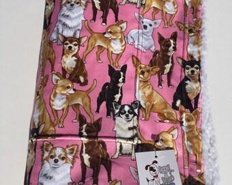Chihuahua Blanket, Chihuahua Dog, Small Dog Blanket, Crate Blanket, Chihuahua Fabric, Chihuahua Gifts, Small Crate Blanket, Chihuahua Dog