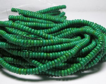 CLEARANCE SALE Green Turquoise Beads 6.5mm TWO 16inch strands