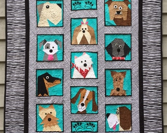 Dogs Only Paper Pieced Quilt Pattern in PDF