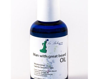 Man with Great Beard 2oz Organic Beard Oil