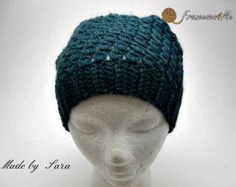 Crochet Wool Slouchy Hat