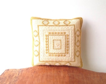 Vintage Cross Stitched Pillow